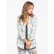 FULL TILT Washed Buffalo Womens Hooded Flannel Shirt