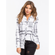 FULL TILT Large Scale Womens Boyfriend Flannel Shirt