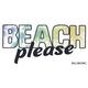 BILLABONG Beach Please Sticker