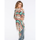 FULL TILT Fringe Womens Hooded Wrap Sweater