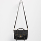 Top Handle Turn Lock Crossbody Bag