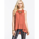 OTHERS FOLLOW High Neck Fanciful Womens Top