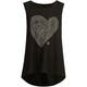 ROXY Woodcut Heart Girls Muscle Tank