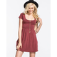 FULL TILT Cross Back Mineral Wash Dress