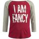 FULL TILT I Am Fancy Girls Baseball Tee