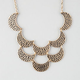FULL TILT 2 Row Crescent Statement Necklace