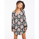 FIRE Floral Print Shift Dress