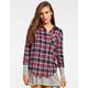 ALI & KRIS Womens Boyfriend Flannel Shirt