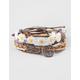 FULL TILT 5 Piece Arrow/Daisy/Feather/Tree Bracelets