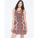 ANGIE 2 Strap Border Print Dress