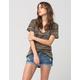 RSQ Malibu Cuff Womens Ripped Denim Shorts