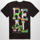 REAL SKATEBOARDS Stacked Floral Mens T-Shirt