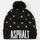 AYC Nyjah Caution Reflective Pom Beanie