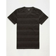 BLUE CROWN Apache Stripe Mens Notch V-Neck Tee
