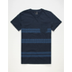 BLUE CROWN Off-Shore Stripe Mens Pocket Tee