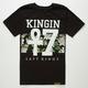 LAST KINGS Floral Stripe Boys T-Shirt