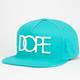 DOPE Rubber Logo Mens Snapback Hat