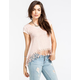 FULL TILT Hachi Knit Crochet Trim Womens Top