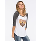 FULL TILT Road Trip Heart Womens Baseball Tee