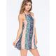 FULL TILT Linear Print Slip Dress