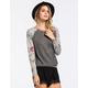 FULL TILT Floral Sleeve Womens Sweatshirt