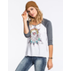 FULL TILT Daisy Feather Arrow Womens Baseball Tee