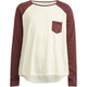 FULL TILT Contrast Pocket Girls Raglan Tee