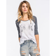 FULL TILT Mirror Unicorn Womens Baseball Tee