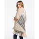 BLU PEPPER Crochet Back Womens Sweater Wrap