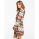 FULL TILT Boho Print Bell Sleeve Shift Dress