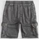 MOMENTUS Mens Burnout Cargo Shorts