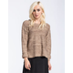FULL TILT Rolled Cuff Step Hem Womens Sweater