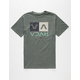 RVCA Stripe Box Mens T-Shirt