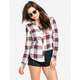 FULL TILT Rolled Cuff Womens Flannel