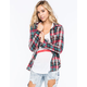 FULL TILT Rolled Cuff Womens Flannel Shirt
