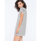 SOCIALITE Stripe Womens T-Shirt Dress