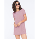 SOCIALITE Mini Stripe Womens T-Shirt Dress