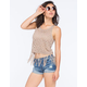 FULL TILT Crochet Womens Fringe Sweater Tank