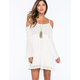 CHLOE K Crochet Trim Cold Shoulder Dress