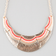 FULL TILT Beaded Coral Bib Necklace