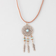 FULL TILT Suede Cord Dreamcatcher Necklace