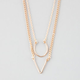FULL TILT Triangle/Circle 2 Row Necklace