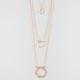 FULL TILT 3 Row Hexagon Necklace