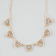 FULL TILT Beaded Triangle Necklace