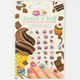 Chocolate Scratch & Sniff Nail Stickers