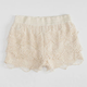 FULL TILT Crochet Tier Girls Shorts