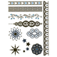 Metallic Filigree/Sun Temporary Tattoos