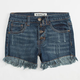 CELEBRITY PINK Fray Edge Girls Denim Shorts