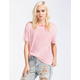 VOLCOM Lived In Stripe Womens Pocket Tee