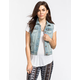 HIGHWAY Frayed Sleeve Womens Denim Vest